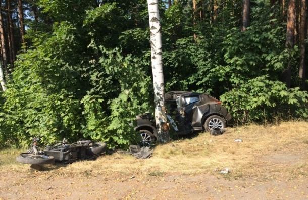 В аварии на Приморском шоссе погиб мотоциклист