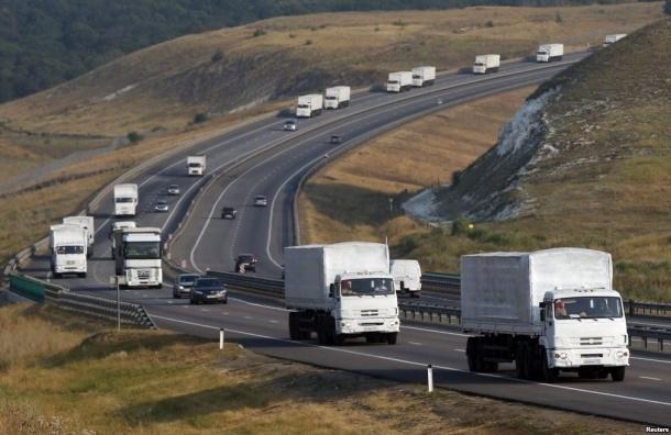 Гуманитарный конвой РФ пересек границу с Украиной без разрешения Киева