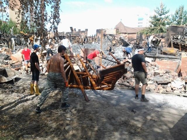 Колтушское шоссе 11, пожар: Фото