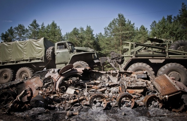МВД Украины заявило об уничтожении автобуса с гражданами РФ