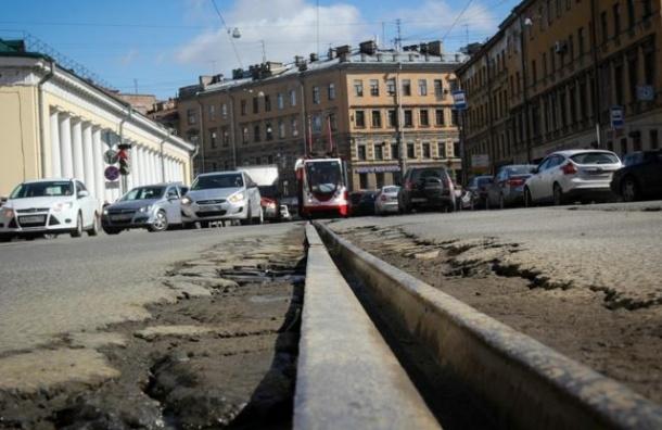 Петербургские трамваи меняют маршруты из-за дорожных работ
