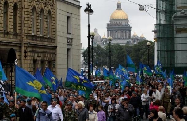 В Петербурге в День ВДВ перекроют Миллионную улицу