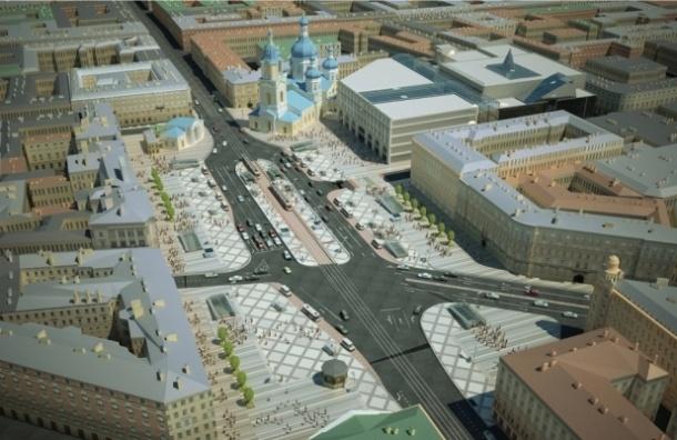 Сенную площадь реконструируют до конца 2016 года