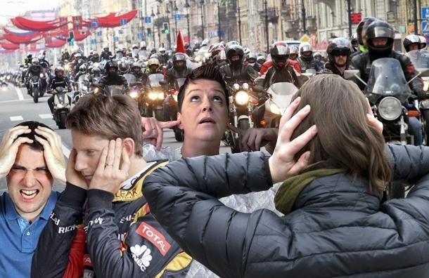 Шумные байкеры Петербурга не боятся законов