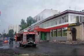 В Петербурге пожарные спасли троих человек из горящей бани
