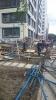 Пять человек пострадали при обрушении строительных лесов на проспекте Медиков: Фоторепортаж