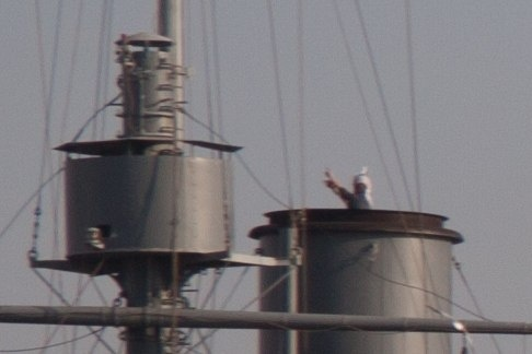 Экстремалы несанкционированно проникли на крейсер «Аврора»: Фото