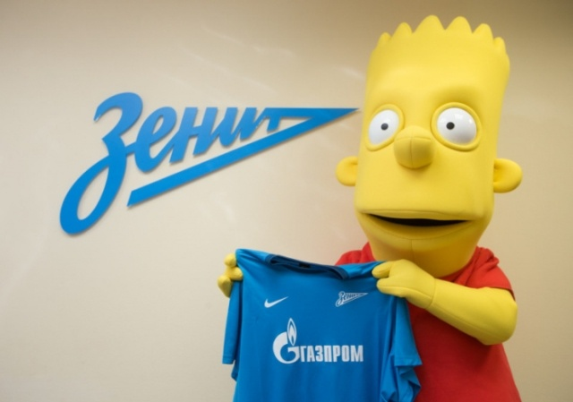 «Зенит» подписал звездного новичка Барта Симпсона: Фото