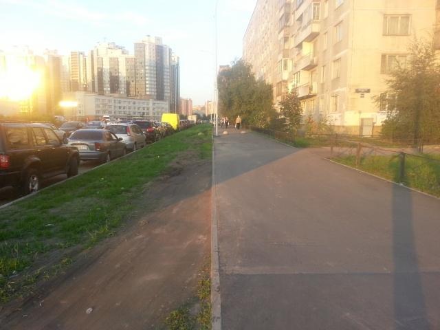 В Купчино строители новой улицы заблокировали въезд во дворы: Фото