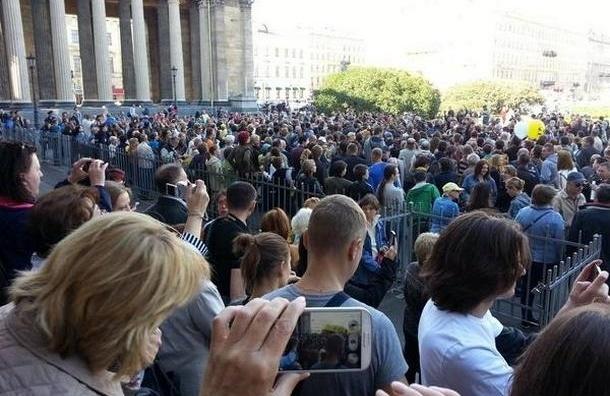 В Петербурге прошел несанкционированный «Марш Мира»
