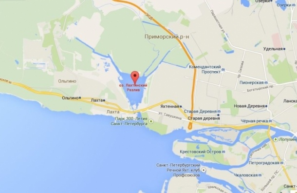 В Петербурге вертолет рухнул в Финский залив