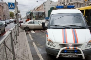 В Петродворцовом районе один человек пострадал в ДТП с рейсовым автобусом