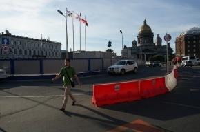 В Петербурге открыто движение по Синему мосту