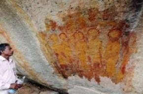 В Индии обнаружены древние изображения «инопланетян»