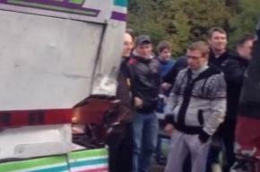 Два автобуса с фанатами «Спартака» столкнулись по дороге в Петербург