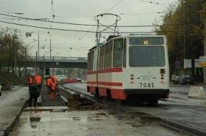 Трамвайное движение по Бухарестской улице закрыто до 9 сентября