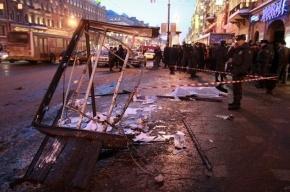 В Петербурге иномарка протаранила остановку, 6 человек пострадали