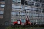 На Кондратьевском проспекте тушат крупный пожар в офисном здании: Фоторепортаж