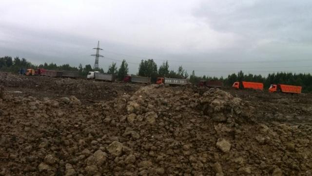 Несанкционированная свалка в Обухово выросла до 100 тысяч кубометров: Фото