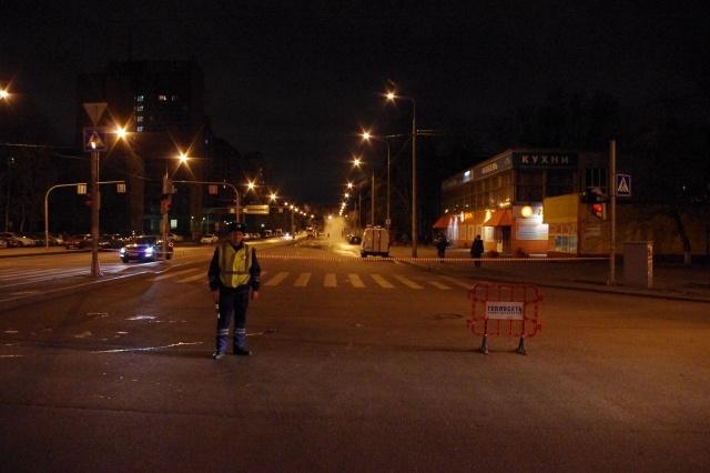 Дальневосточный проспект перекрывают из-за прорыва трубы: Фото
