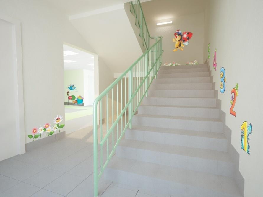 Дизайн лестниц детского сада фото
