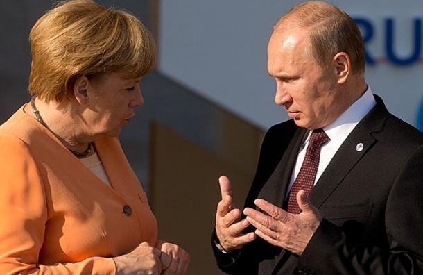 Путин и Меркель обсудили кризис на Украине и газовый вопрос