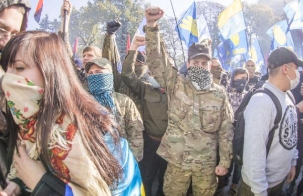 Петербуржцев обвинили в организации штурма Верховной Рады