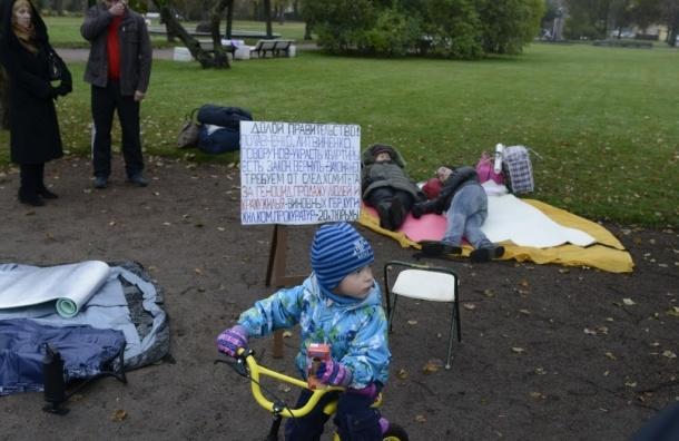 Протестующие «Ильюшинцы» намерены жить у Смольного