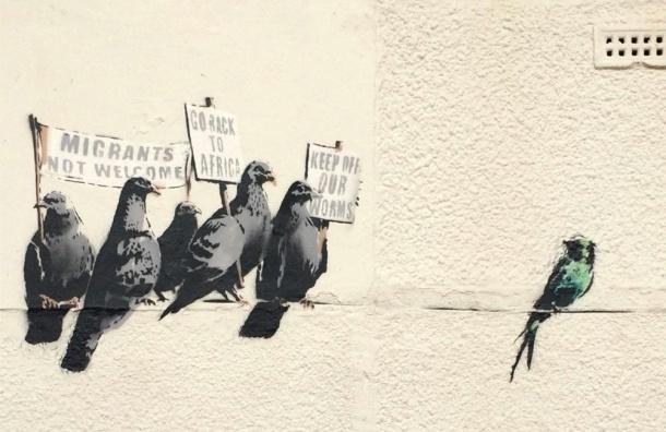 В Британии уничтожили граффити Бэнкси стоимостью 400 тысяч фунтов
