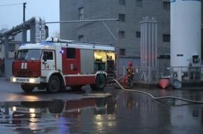 На Кондратьевском проспекте тушат крупный пожар в офисном здании