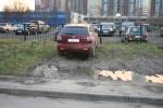 Газон на ул.Руднева , возле домов 22 корп.2 и д.24: Фоторепортаж