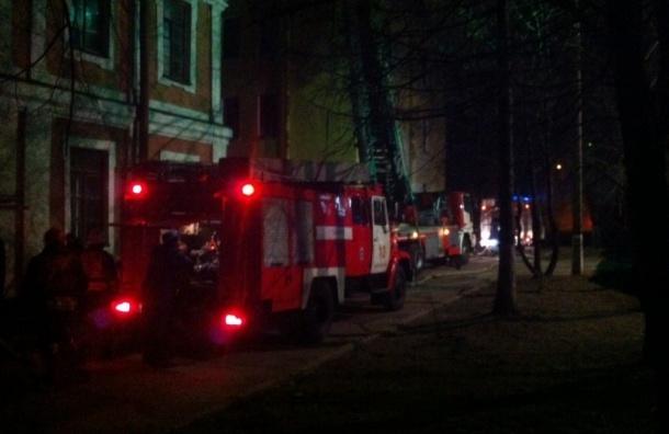 В Петербурге ночью горел Манеж кадетского корпуса