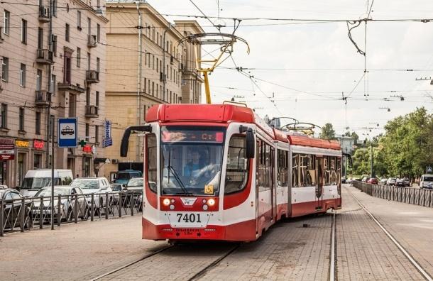 В Петербурге трамвайные остановки выделят специальной разметкой