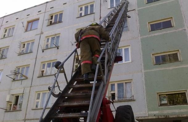 На Петергофском шоссе женщина отравилась угарным газом при пожаре на кухне