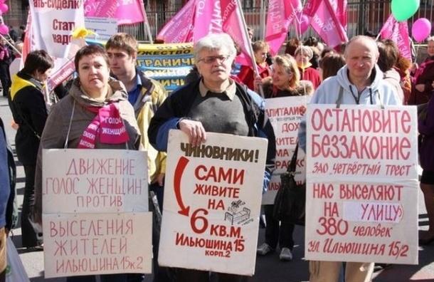 На Ильюшина 15 выселяют активистку инициативной группы Марину Кожину