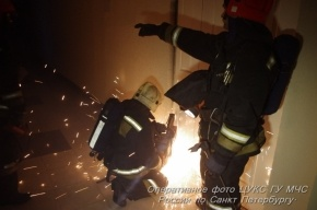 В центре Петербурга горел «Дикси»