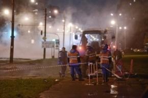 Прорыв трубы на Мечникова оставил без тепла свыше 100 домов