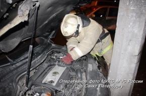 На Московском шоссе иномарка протаранила грузовик