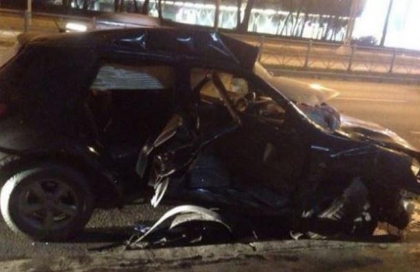 В Петербурге три человека пострадали в массовом ДТП с маршруткой