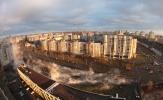 Прорыв трубы на Кораблестроителей : Фоторепортаж