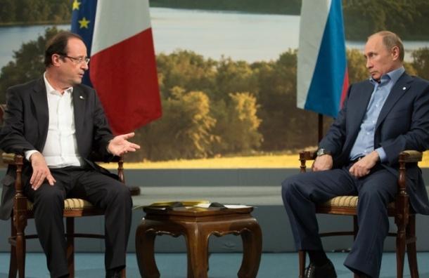 Путин и Олланд встретятся сегодня в Москве