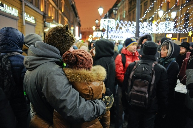 Акция в поддержку братьев Навальных на Малой Садовой (30.12.14): Фото