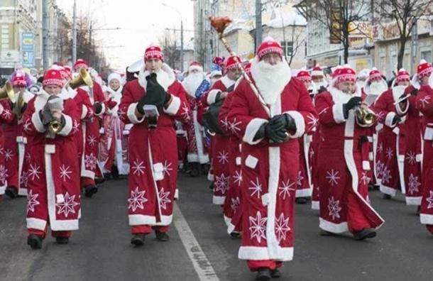 В Кронштадте шествие Дедов Морозов остановит движение