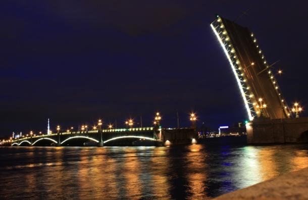 Литейный и Биржевой мосты разведут в ночь на 24 декабря