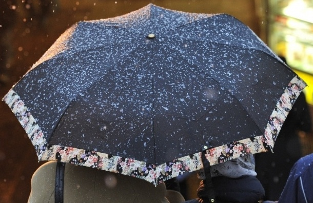 Петербург встретит новую неделю мокрым снегом и дождем