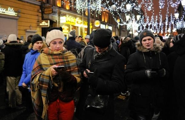 В Петербурге прошел тихий «сход» за Навальных