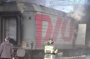 Электропоезд загорелся в Москве