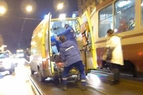 В Адмиралтейском районе женщину сбили на трамвайных путях