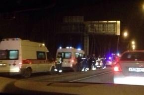 Два микроавтобуса и «Газель» столкнулись на съезде с ЗДС