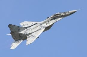 В Подмосковье рядом со школой упал самолет МИГ-29